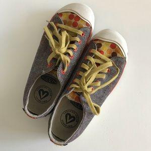 Keen Vegan Sneakers Sz 6.5 Brown & Polka Dots